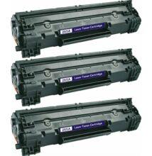HP  3 X CE285A / CB435 utángyártott toner (CRG725) 85A FEKETE -10%