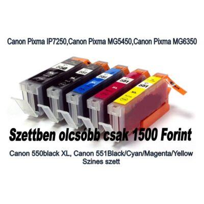 Canon utángyártott tintapatron - Canon - 550bk-551bkmyc-556