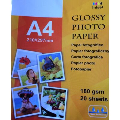 A4 Photo papír Fotó papír fényes 180gsm 20 lap Water resistance