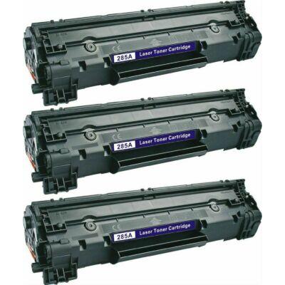HP  3 X CE285A / CB435 utángyártott toner (CRG725) 85A FEKETE -10%⭐