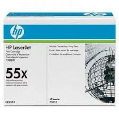 HP CE255X Toner Black 12,5k No.55X (Eredeti) FEKETE