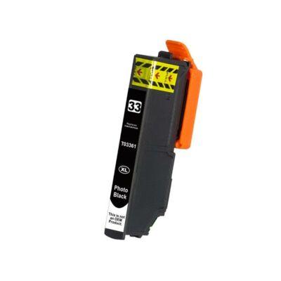 Epson utángyártott tintapatron T3361 photoblack fekete